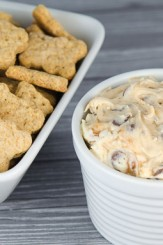 Chocolate Chip Cookie Dough and Toffee Dip | © www.toochskitchen.com |